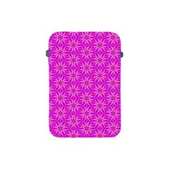Pink Snowflakes Spinning In Winter Apple Ipad Mini Protective Soft Cases by DianeClancy