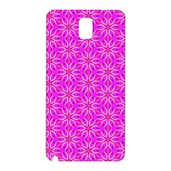 Pink Snowflakes Spinning In Winter Samsung Galaxy Note 3 N9005 Hardshell Back Case by DianeClancy