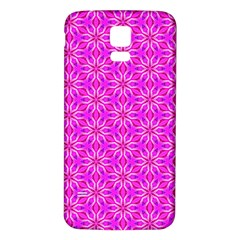 Pink Snowflakes Spinning In Winter Samsung Galaxy S5 Back Case (white) by DianeClancy