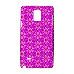 Pink Snowflakes Spinning In Winter Samsung Galaxy Note 4 Hardshell Case by DianeClancy