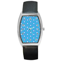 Aqua Hawaiian Stars Under A Night Sky Dance Barrel Style Metal Watch by DianeClancy