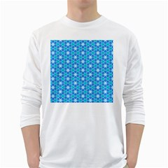 Aqua Hawaiian Stars Under A Night Sky Dance White Long Sleeve T Shirts by DianeClancy