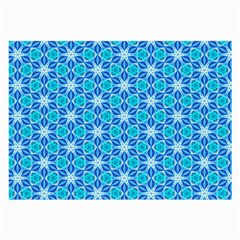 Aqua Hawaiian Stars Under A Night Sky Dance Large Glasses Cloth (2 Side) by DianeClancy