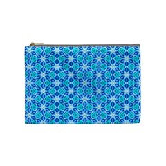 Aqua Hawaiian Stars Under A Night Sky Dance Cosmetic Bag (medium)  by DianeClancy