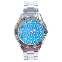 Aqua Hawaiian Stars Under A Night Sky Dance Stainless Steel Analogue Watch by DianeClancy