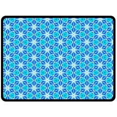 Aqua Hawaiian Stars Under A Night Sky Dance Double Sided Fleece Blanket (large)  by DianeClancy