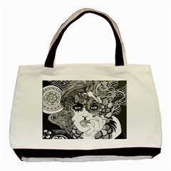 Smoking Canvas Twin Sided Black Tote Bag by DryInk