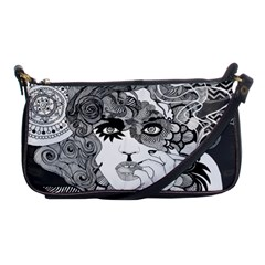 Vintage Smoking Woman Clutch Evening Bag by DryInk