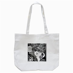 Vintage Smoking Woman Tote Bag (white) by DryInk