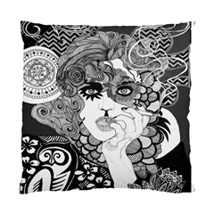 Vintage Smoking Woman Cushion Case (two Sided)  by DryInk