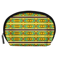 Circles And Stripes Pattern       Accessory Pouch by LalyLauraFLM