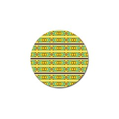 Circles And Stripes Pattern       			golf Ball Marker (4 Pack) by LalyLauraFLM