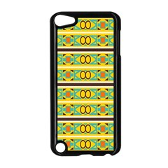 Circles And Stripes Pattern       			apple Ipod Touch 5 Case (black) by LalyLauraFLM