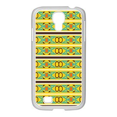 Circles And Stripes Pattern       			samsung Galaxy S4 I9500/ I9505 Case (white) by LalyLauraFLM