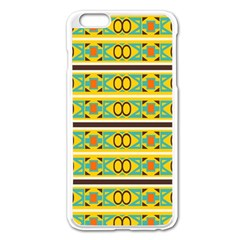 Circles And Stripes Pattern       			apple Iphone 6 Plus/6s Plus Enamel White Case by LalyLauraFLM