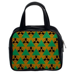 Triangles And Other Shapes Pattern        Classic Handbag (two Sides) by LalyLauraFLM