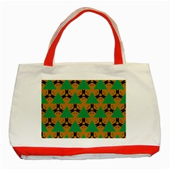 Triangles And Other Shapes Pattern        			classic Tote Bag (red) by LalyLauraFLM