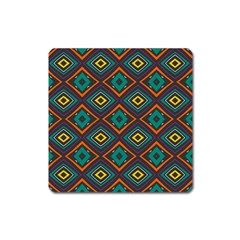 Rhombus Pattern          			magnet (square) by LalyLauraFLM