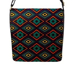 Rhombus Pattern          			flap Closure Messenger Bag (l) by LalyLauraFLM