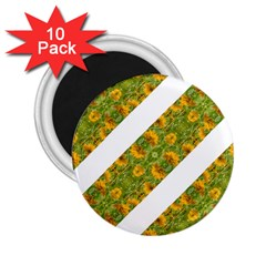 Indian Floral Pattern Stripes 2 25  Magnets (10 Pack)  by dflcprints