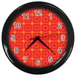 Peach Apricot Cinnamon Nutmeg Kitchen Modern Abstract Wall Clocks (Black) Front