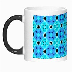 Vibrant Modern Abstract Lattice Aqua Blue Quilt Morph Mugs by DianeClancy