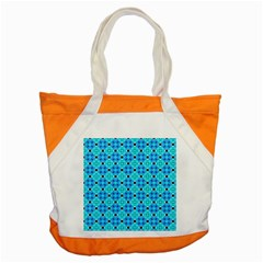 Vibrant Modern Abstract Lattice Aqua Blue Quilt Accent Tote Bag by DianeClancy
