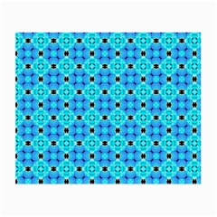 Vibrant Modern Abstract Lattice Aqua Blue Quilt Small Glasses Cloth (2 Side) by DianeClancy