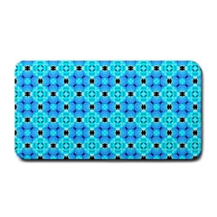 Vibrant Modern Abstract Lattice Aqua Blue Quilt Medium Bar Mats by DianeClancy