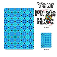 Vibrant Modern Abstract Lattice Aqua Blue Quilt Multi Purpose Cards (rectangle)  by DianeClancy