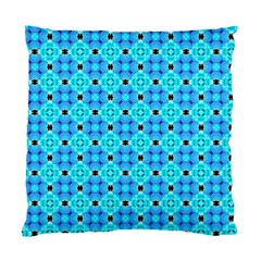 Vibrant Modern Abstract Lattice Aqua Blue Quilt Standard Cushion Case (two Sides) by DianeClancy
