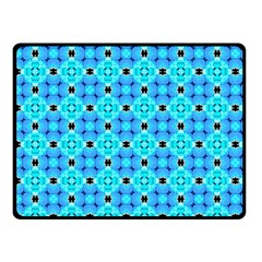 Vibrant Modern Abstract Lattice Aqua Blue Quilt Fleece Blanket (small) by DianeClancy