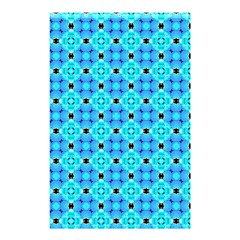 Vibrant Modern Abstract Lattice Aqua Blue Quilt Shower Curtain 48  X 72  (small)  by DianeClancy