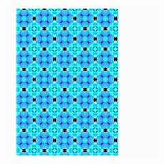 Vibrant Modern Abstract Lattice Aqua Blue Quilt Small Garden Flag (two Sides) by DianeClancy