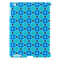 Vibrant Modern Abstract Lattice Aqua Blue Quilt Apple Ipad 3/4 Hardshell Case (compatible With Smart Cover) by DianeClancy
