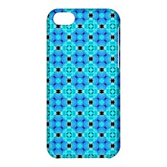 Vibrant Modern Abstract Lattice Aqua Blue Quilt Apple Iphone 5c Hardshell Case by DianeClancy