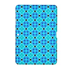 Vibrant Modern Abstract Lattice Aqua Blue Quilt Samsung Galaxy Tab 2 (10 1 ) P5100 Hardshell Case  by DianeClancy