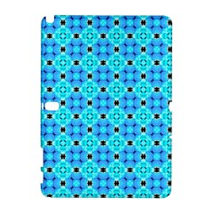 Vibrant Modern Abstract Lattice Aqua Blue Quilt Samsung Galaxy Note 10 1 (p600) Hardshell Case by DianeClancy