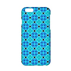 Vibrant Modern Abstract Lattice Aqua Blue Quilt Apple Iphone 6/6s Hardshell Case by DianeClancy