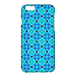 Vibrant Modern Abstract Lattice Aqua Blue Quilt Apple Iphone 6 Plus/6s Plus Hardshell Case by DianeClancy