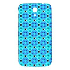 Vibrant Modern Abstract Lattice Aqua Blue Quilt Samsung Galaxy Mega I9200 Hardshell Back Case by DianeClancy