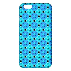 Vibrant Modern Abstract Lattice Aqua Blue Quilt Iphone 6 Plus/6s Plus Tpu Case by DianeClancy