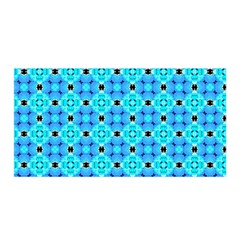 Vibrant Modern Abstract Lattice Aqua Blue Quilt Satin Wrap by DianeClancy
