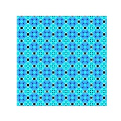 Vibrant Modern Abstract Lattice Aqua Blue Quilt Small Satin Scarf (square) by DianeClancy