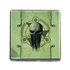 Awesome Green Skull Memory Card Reader (square) by FantasyWorld7