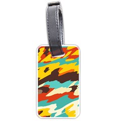 Wavy Retro  Texture           			luggage Tag (one Side) by LalyLauraFLM