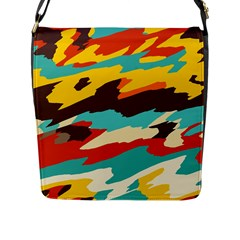 Wavy Retro  Texture           			flap Closure Messenger Bag (l) by LalyLauraFLM