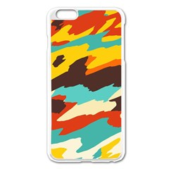 Wavy Retro  Texture           			apple Iphone 6 Plus/6s Plus Enamel White Case by LalyLauraFLM