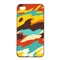 Wavy Retro  Texture           			apple Iphone 4/4s Seamless Case (black) by LalyLauraFLM