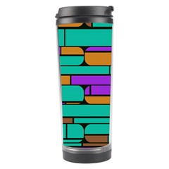 Round Corner Shapes In Retro Colors            Travel Tumbler by LalyLauraFLM